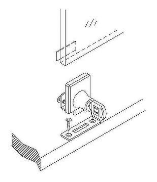 Taiwan Cabinet Single Swinging Glass Door Lock
