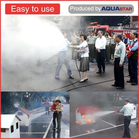 10HP electric multifunc-tional water mist high pres-sure fire pump