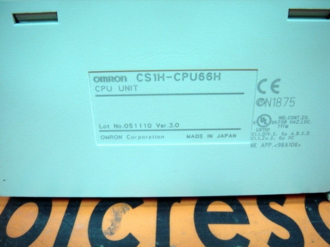 OMRON CPU UNIT CS1H-CPU66H WITH CS1W-SCB21-V1