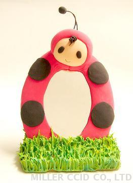Mini Ladybird Mirror Stand DIY Kit with Light Clay