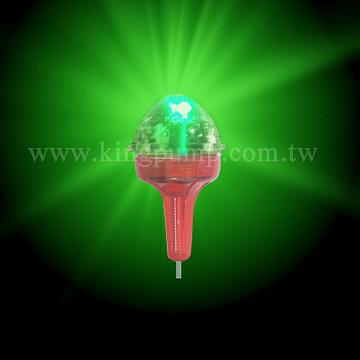 Taiwan smart night fishing float led light change green for Light up fishing bobbers