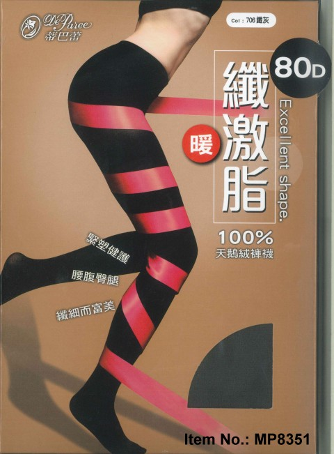 women in Tights, Deparee Microfiber Slim Opaque Tights, 80D