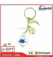 Acrylic Heart Dory Fish Dolphin Tropical Fish Keychain