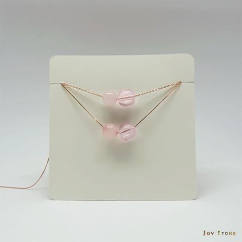 Rose Quartz October Diffuser Necklace