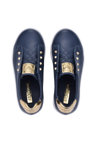 Children's Fashion-Classic Sneakers-Avery (Blue)