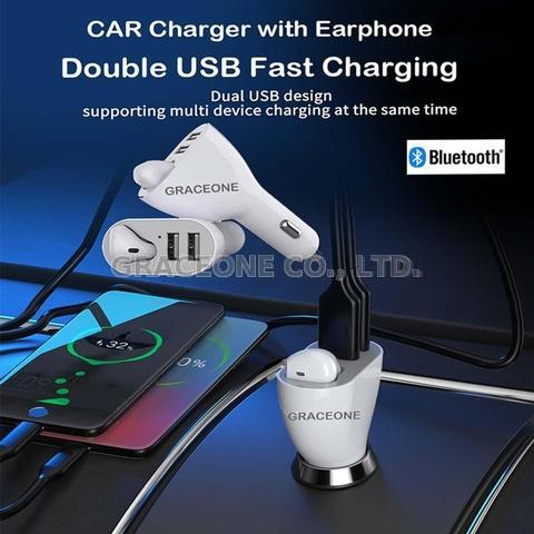 Car Charger with Earphone