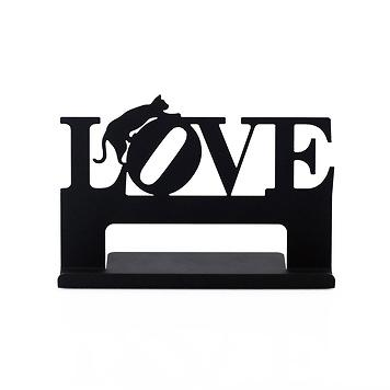 Taiwan cell phone tablet business card holder stand love cat cell phone tablet business card holder stand love cat shape classic black gifts decors crafts reheart Gallery