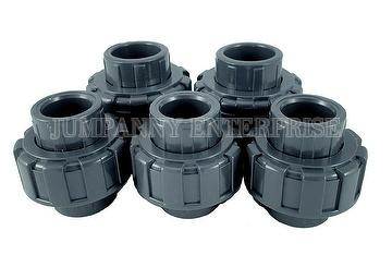 PVC true/double union ball valves , jumpanny