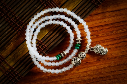 Taiwan 108 Prayer Beads Bracelet Multilayer Natural 6mm
