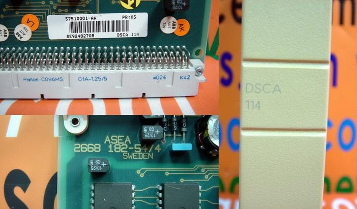 ABB DSCA 114 / DSCA-114 / DSCA114 57510001-AA / ASEA 2668 182-54/4 CIRCUIT BOARD Card Communication