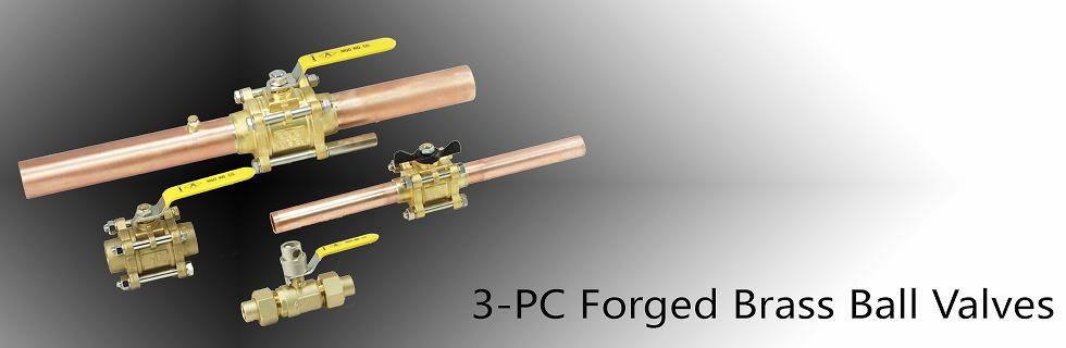 3-pc Forged Brass Ball Valves