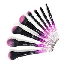 8pcssynthetic hair cosmetic makeup brush set