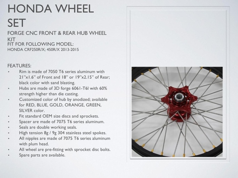 HONDA Wheel Set