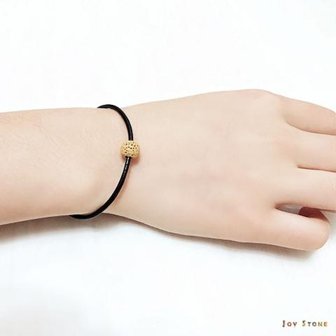 Yellow Lava Bead Diffuser Black Leather Bracelets