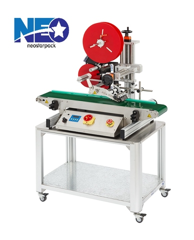 High Accurate and Flexible Tabletop Top Labeler for Instant Noodles Cup