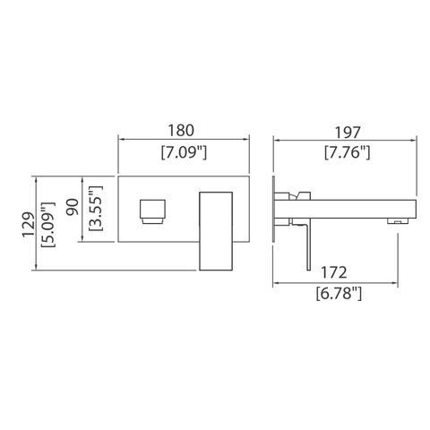 Casement - Wall-mounted single-lever basin mixer