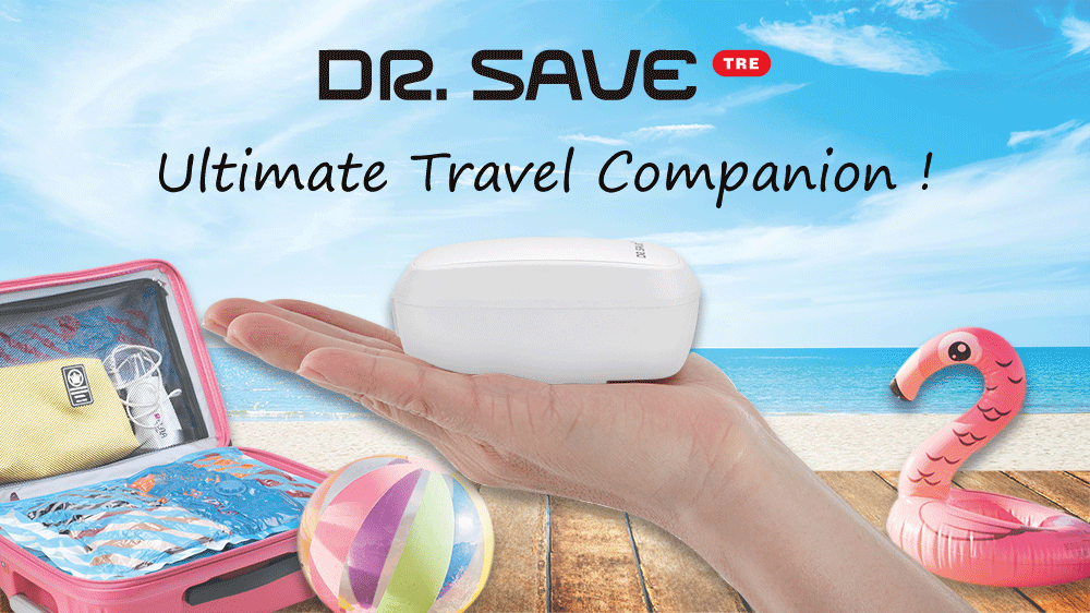DR. SAVE TRE Mini Vacuum Sealer Plus Air Pump is an ultimate travel companion.