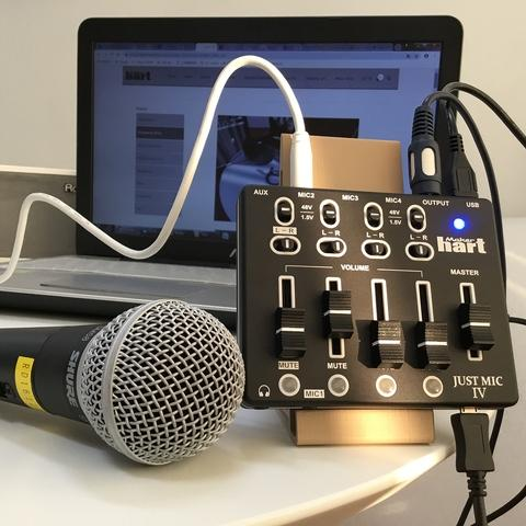 Maker hart MIC IV Portable Size Broadcast Mixer Live Stream