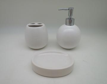 BALL SHAPE CERAMIC BATHROOM SET