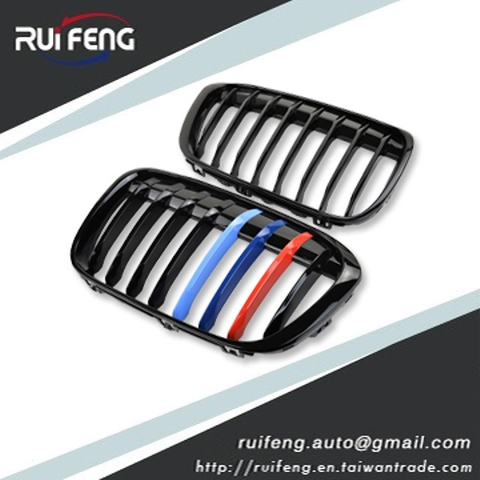 Front Grille Sport Style BMW X1 F48  M-Color Gloss Black
