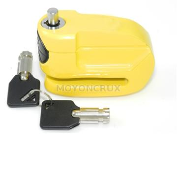Motorcycle resettable combination disc lock