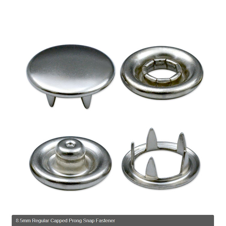 Taiwan 8 5mm Regular Capped Prong Snap Fastener | FOUR BROTHERS CO