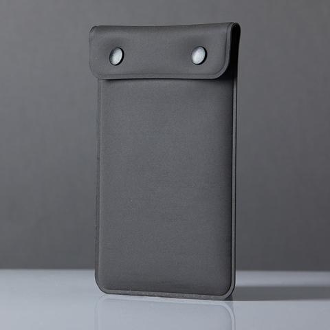 防潑水素面壓扣手機收納袋  行動電源袋