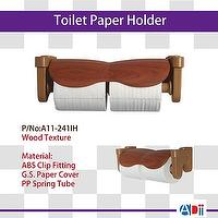 METIDEA**Assist System-- ' Toilet Paper Holder with Wood Shelf '
