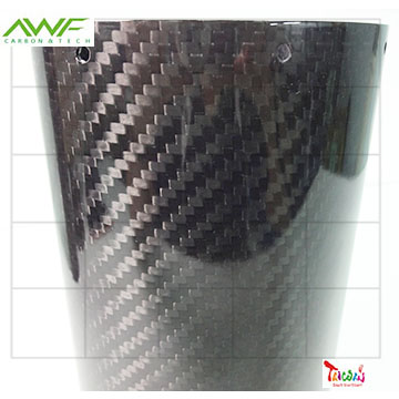 Carbon Fiber Oval Exhaust Pipe