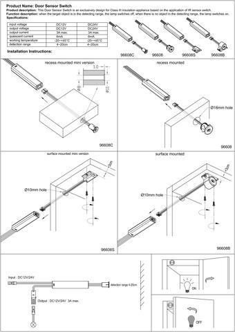 Introduction Door industry IR photoelectric switch sensor