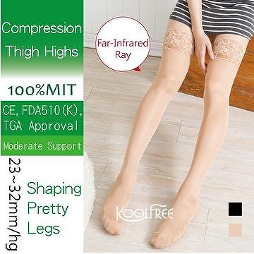 e0b824a75 Taiwan Sexy Lace Thigh High Compression Stockings 23-32mmHg
