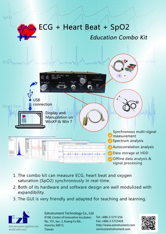 ECG+Heat Beat+SpO2 Education Combo Kit Brochure