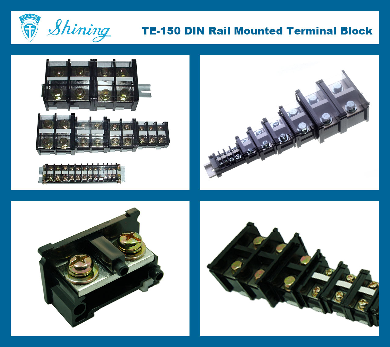 Taiwan Cable Lug Terminal Block Connector Din Rail M8 Screw 150 A Te In 220 Fuse Box