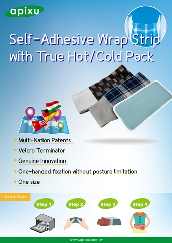 Self-adhesive wrap strip with true hot/cold pack