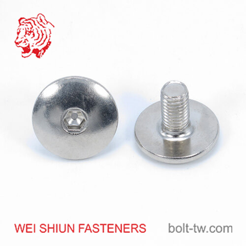Machine screw stainless steel A2 truss hex head