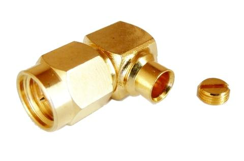 SMA Connector R/A Male Solder, RF