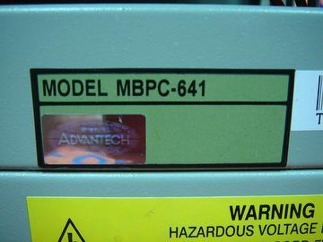 ADVANTECH MBPC-641 4 SLOT IPC CHASSIS