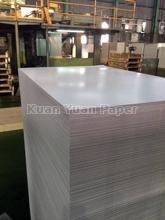 Coated duplex board with grey back