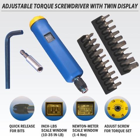 Adjustable Torque 1-4 N.m. Screw Driver