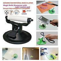 Ceramic Knife Sharpener with super suction pad (Patented)