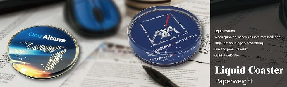 Acrylic coaster paper weights