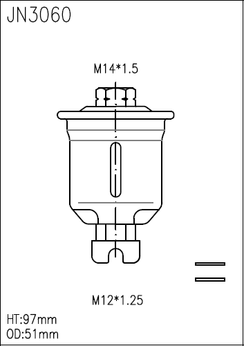 taiwan fuel filter for toyota 23300