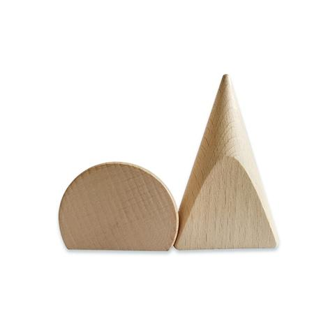Plain Wood Base 90° Cut Cones