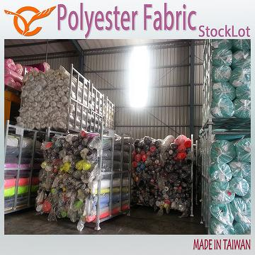 Taiwan Hot Selling 100 Polyester Twill Fabric Stock For Garments