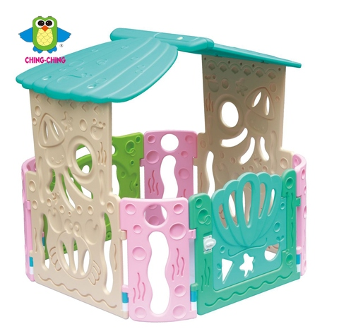 PY-12 ocean world play house with seashell door- toy