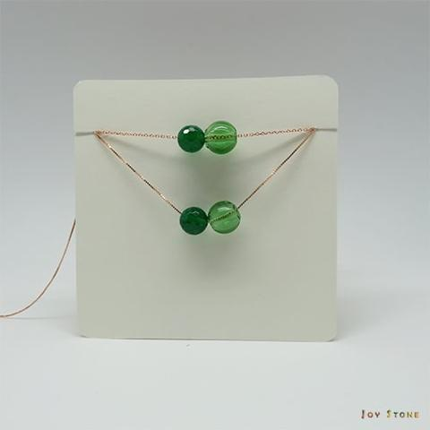 Green Agate August S925 Diffuser Necklace