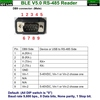 Bluetooth BLE V5.0 Beacon RS485 Reader DB9 pin definition
