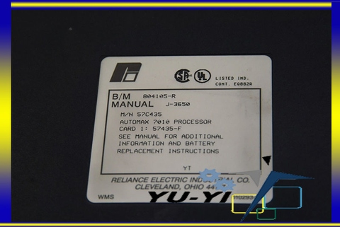RELIANCE AUTOMAX 7010 PROCESSOR 57C435 804105-R J-3650 CARD
