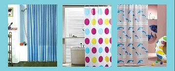 SHOWER CURTAIN & BATH ITEMS .