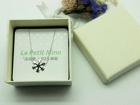 925 Silver Snowflake Necklace Platinum-Clad